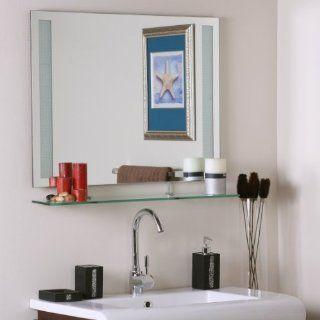 Decor Wonderland SSM151 Ricardo   Shelf Frameless Wall Mirror, Eched