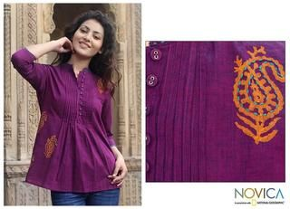 Cotton Wine Delight Blouse (India)