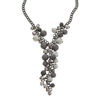 Kenneth Cole Silvertone Beaded Necklace