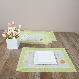 Saro Easter Design 14 inch Placemats (Set of 4)