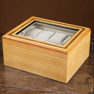 Christopher Knight Home Glass top Maple Wood Watch Box