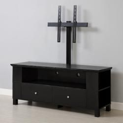 Black Wood 60 inch TV Stand with Mount