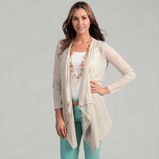 Calvin Klein Womens Long Sleeve Burnout Sweater