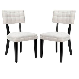 Soho Tufted White Side Chairs Set