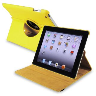 Yellow 360 degree Swivel Leather Case for Apple iPad 2/ 3 Today $11
