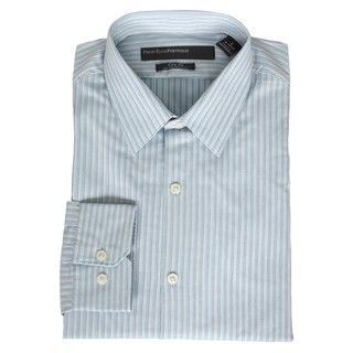 Perry Ellis Mens Powder Blue Stripe Dress Shirt