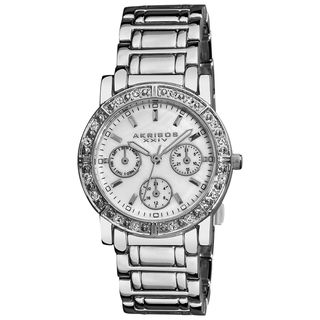 Akribos XXIV Womens Crystal Multifunction Bracelet Watch
