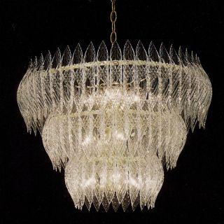 Kerchief 11 light Polished Brass Finish Chandelier Today $349.99
