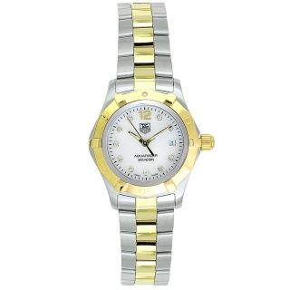 Tag Heuer Womens Aquaracer Two tone Stainless Steel Watch