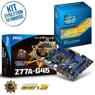 Kit Evo Mercoeur IvyBridge   Contient  MSI Z77A G45 + Intel® Core