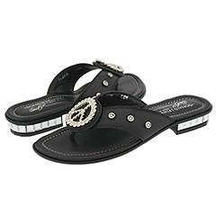 Donald J Pliner Gem Black Antique Metallic Sandals