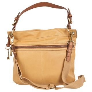 Fossil Explorer Leather Hobo Bag