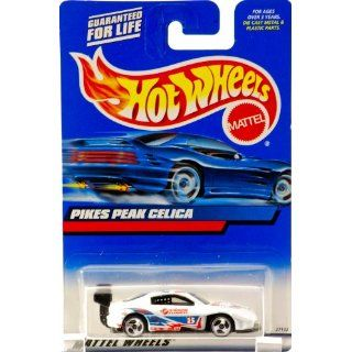 2000   Mattel   Hot Wheels   Collector #166   Piks Peak Celica   White
