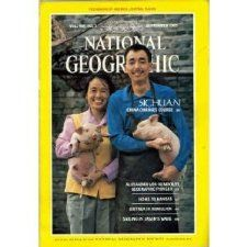 Vol. 168, No. 3, National Geographic Magazine, September 1985 Sichuan