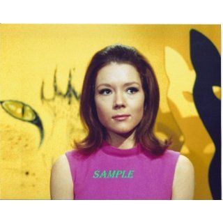 The Avengers Diana Rigg in Pink Sleeveless Dress with