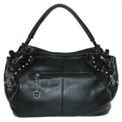 Collective Womens Studded Leather Hobo Bag