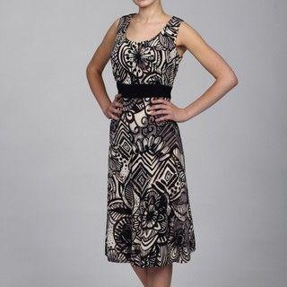 Richards 2 piece Jungle Print Dress and Black Shrug