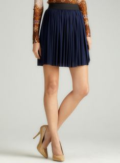 Vince Camuto Blue Night Gored Skirt