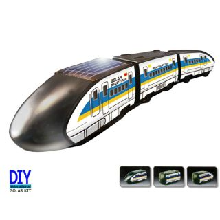 DIY Solar Powered Bullet Train with Train Cars