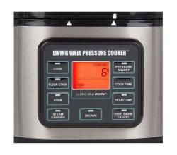 Montel Williams Living Well 5 quart Stainless Steel Pressure Cooker