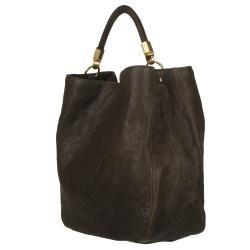 Yves Saint Laurent Roady Ranch Brown Leather Hobo Bag