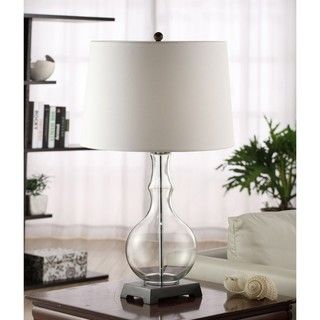 Clear Glass Table Lamp with Metal Base