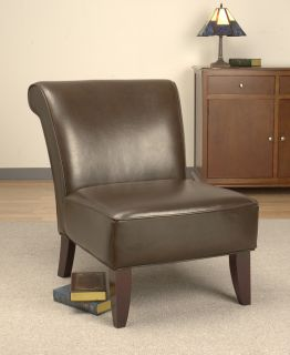 Garland Dark Brown Leather Chair