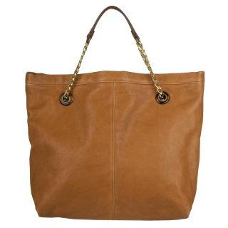 Lanvin Amalia Burnt Orange Leather Tote Bag