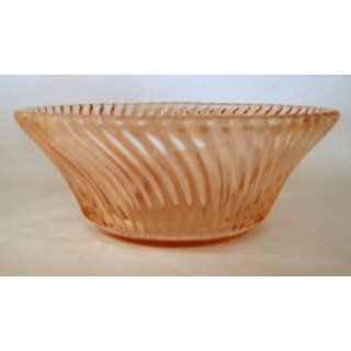 Pink Swirl Depression Glass Dessert Bowl Everything Else