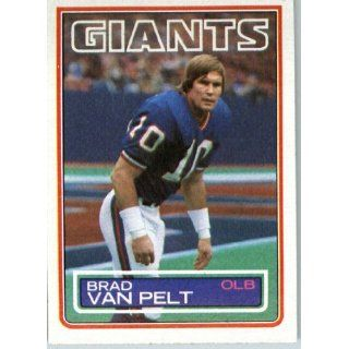 1983 Topps # 134 Brad Van Pelt New York Giants Football Card   Shipped