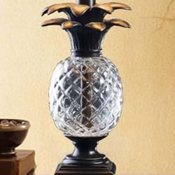 Cut Glass Resin Pineapple Table Lamp