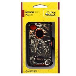 Otter Box Orange Camo Case/ Audio Cable/ Charger for Apple iPhone 4S