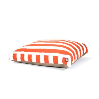 Majestic Pet Burnt Orange Vertical Stripe Rectangle Pet Bed