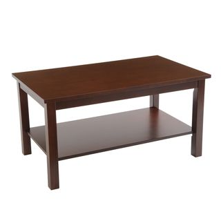 Bianco Collection Espresso Coffee Table