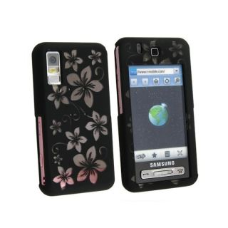 Eforcity Laser Black Hawaii Rubber Coated Case for Samsung Behold T919