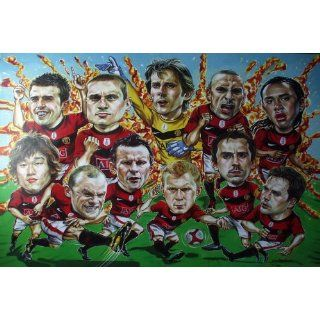 AS274 Manchester United Funny Cartoon Soccer Football