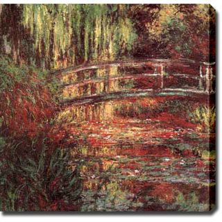 Claude Monet Water Lily Pond, Harmonie Rose Oil on Canvas Art