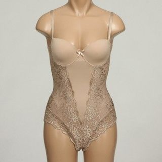 Marilyn Monroe Womens Feminie Shaping Full Back Lace Bodysuit