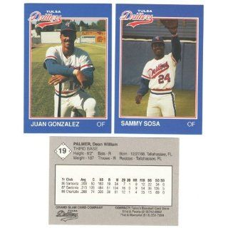 1989 Grand Slam Tulsa Drillers w/ SAMMY SOSA & JUAN GONZALEZ (Texas