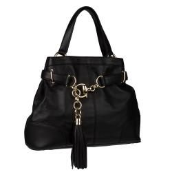 Gucci Sienna Black Leather Hobo Bag