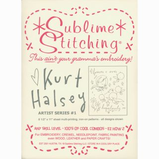 Sublime Stitching Embroidery Patterns Artist Series Kurt Halsey #1