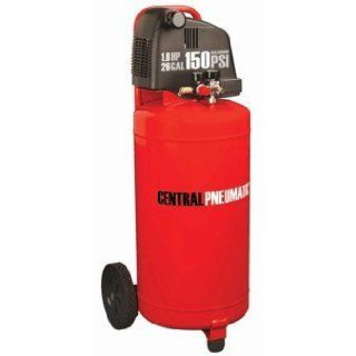 Central Pneumatic 1.8 HP, 26 Gallon, 150 PSI Oilless Air Compressor