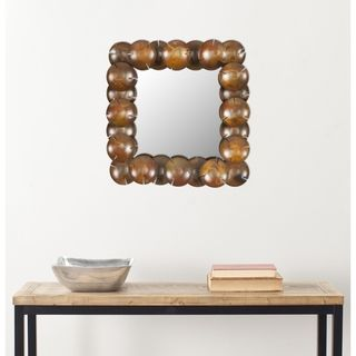 Handmade Arts and Crafts Coconut Wall Mirror