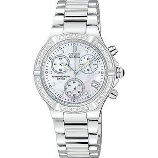 Citizen Eco Drive Riva Womens Diamond Chronograph Watch