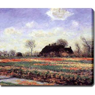 Claude Monet Tulip Fields at Sasenheim Oil on Canvas Art