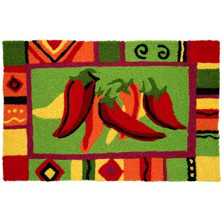 Red Hot Chili Peppers Red Indoor/ Outdoor Rug (19 x 29)