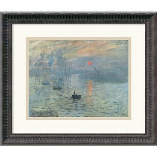 Claude Monet Impressions at Sunrise, 1873 Framed Art Print