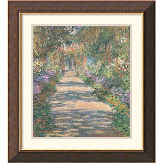 Claude Monet Garden in Giverny Framed Art Print