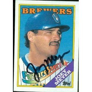 Joey Meyer autographed Baseball Card (Milwaukee Brewers) 1988 Topps