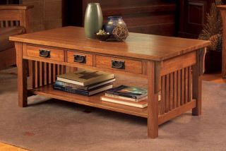 Mission Solid Oak Coffee Table